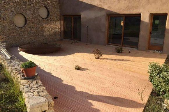 Entreprise pour la construction d'une terrasse en bois Ouest lyonnais