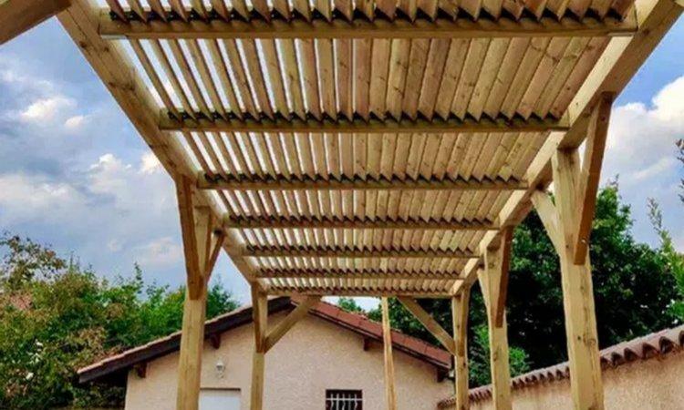 Artecimes Création de pergola en bois Ouest lyonnais